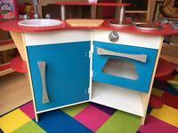 Melissa & Doug wooden toy kitchen with accessories