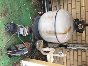 Pool pumps x 2, Filter and solar heating Marino Marion Area Preview