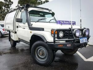 2004 Toyota Landcruiser HDJ79R Muster White 5 Speed Manual Cab Chassis Maddington Gosnells Area Preview