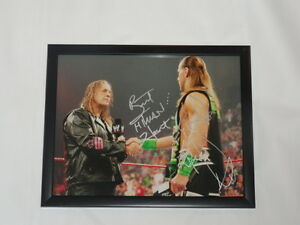 BRET-THE-HITMAN-HART-SHAWN-MICHAELS-SIGNED-FRAMED-11X14-WWF-WWE-PROOF