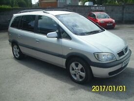 2004(04) Zafira. 12 months MoT, Some S/History. New Cambelt and recent clutch. Good to go!