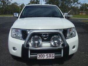 2013 Nissan Navara D40 MY12 ST-X 550 (4x4) White 7 Speed Automatic Dual Cab Utility Dalby Dalby Area Preview