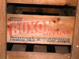 1940s-50s BUXOM MELONS CRATE BOX Rare Full Size NOT MINIATURE Kitchener / Waterloo Kitchener Area image 1
