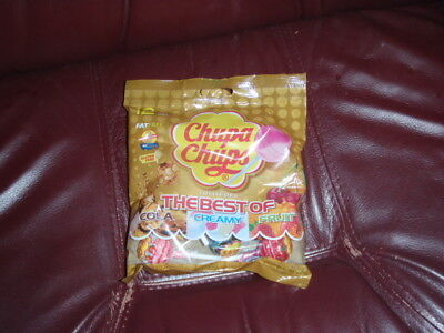 CHUPA CHUPS 12pc Bag THE BEST OF Candy COLA+CREAMY+FRUIT Lollipops EXP.