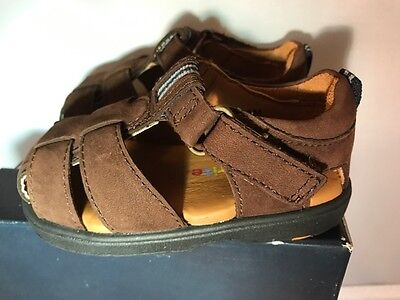 Stride Rite Brown NEW Closed Toe Sandals Infant Boys Size 4 M