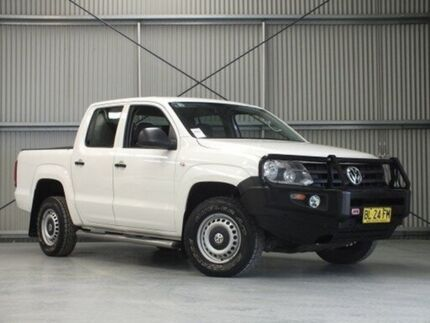 2011 Volkswagen Amarok 2H TDI400 (4x4) White 6 Speed Manual Dual Cab Utility Dubbo 2830 Dubbo Area Preview