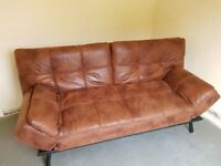 3 Seater Sofa Bed - Brown