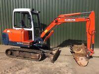KUBOTA KX71-2, 3 TONNE MINI DIGGER EXCAVATOR £8250 +VAT (£9900).