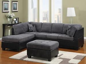 NO TAX ELEPHANT SKIN SECTIONAL SOFA ONLY FOR 749$