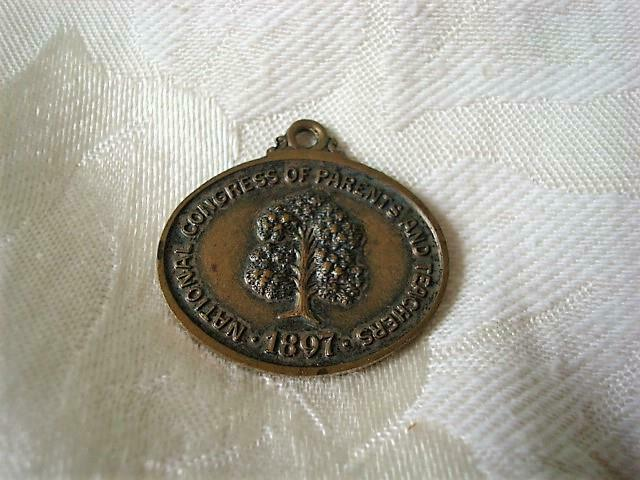 Vintage National Congress Of Parents and Teachers 1897 Medal Fob Pendant