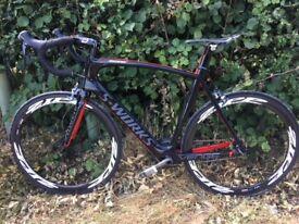 Large full carbon mens road bike based on Maclaren S-WORKS Venge Ultegra groupset - virtually new!