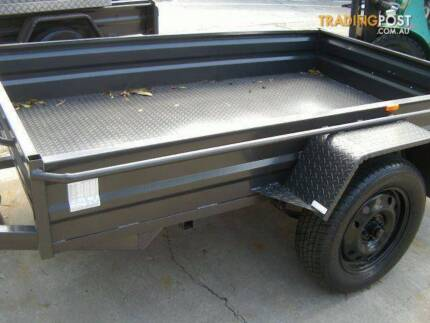 6 X 4 BOX TRAILER HIGH SIDED, X-PLATE AND GUARDS -  ********7690