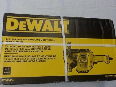 Dewalt Tool Corded Vsr Stud And Joist Drill With Clutch 12 Dwd450 Ao1040242