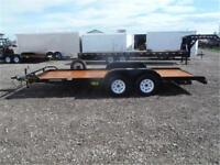 7K - 7 x 18 Flatbed Car Hauler by Big Tex *SPARE TIRE INCLUDED!*