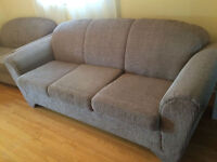 3 pieces fabric sofa set 3, 2, 1 seater great condition