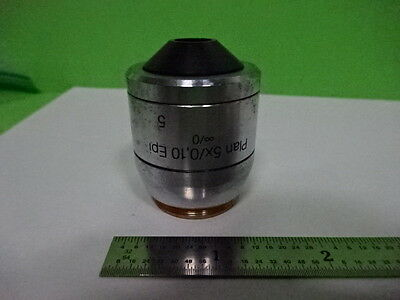 Microscope Part Polyvar Reichert Objective 5x Epi Optics As Is Af-e-11