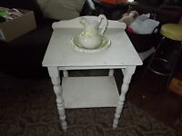Old wash stand and pitcher