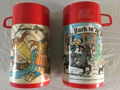 Bundle of two 2 Vintage Aladdin Thermos, Back in 76, Junior Miss!