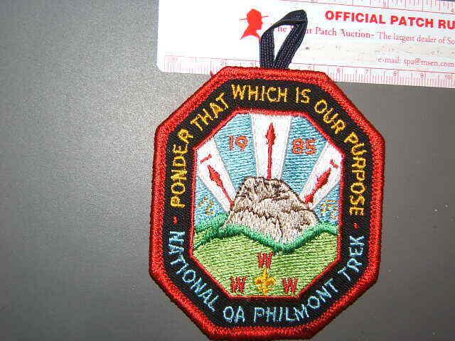 Boy Scout Philmont 1985 OA Trek Participants Patch 1148Q