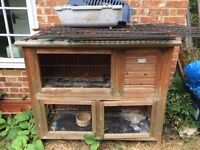 guinea pig cage, run, carrier, feeding bowl. Well used but serviceable items.
