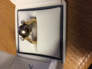 One of a kind Choc. Tahitian Pearl Ring