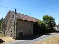 France, Limousin. Close to Limoges. Large barn with garden to convert into habitation.
