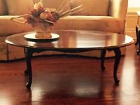 GIBBARD HIGH END COFFEE TABLE AND 2 END TABLES