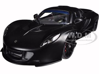 Hennessey Venom Gt Spyder Matt Carbon Black 1 18 Diecast Model Car Autoart 75401