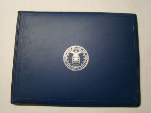 Vintage US Department of the Air Force Padded Plastic Certificate Holder