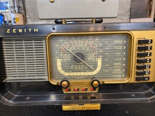 Vintage Zenith Trans-Oceanic Wave Magnet H500 Radio /Chassis 5H40  Still Working