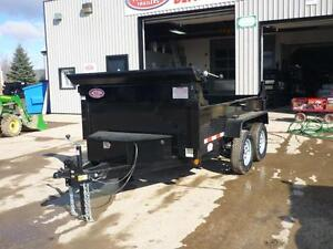 CLEARENCE DUMP TRAILER 3.5 TON W/10' BOX - LOW PRICE- BEST VALUE London Ontario image 3
