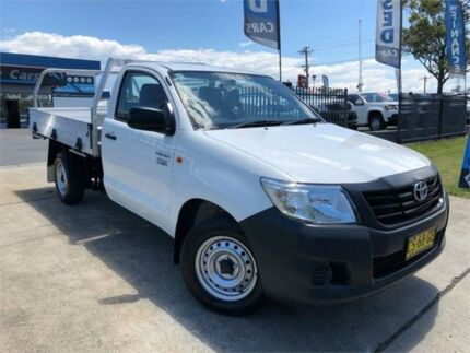 2015 Toyota Hilux TGN16R MY14 Workmate White Manual Cab Chassis Mulgrave Hawkesbury Area Preview