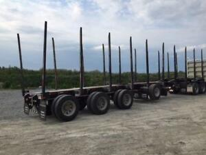 *REPO* 2018 Timmins 4 Axle 10 Bunk Log Trailer *REPO*  Lot#7010
