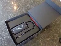 iRIG2 - guitar interface. Play guitar through your iOS Device, Mac or Samsung Pro Audio Device
