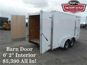 *Guaranteed Lowest Price* 7 x 14 CARGO TRAILER -*$5,390 TAX IN*-