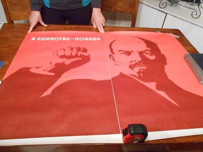 Political OSPAAAL POSTER.Vladimir Lenin soviet USSR ot4.Revolution Art Design