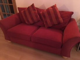 A PAIR OF THREE SEATER SOFAS ( EX STERLING ) GOOD CONDITION