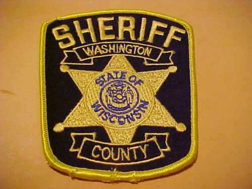 WASHINGTON COUNTY WISCONSIN POLICE PATCH SHOULDER SIZE UNUSED
