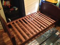 Solid Wood Twin Bed  $50