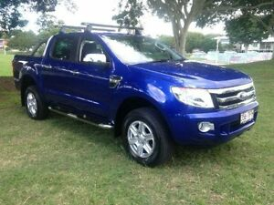 2013 Ford Ranger PX XLT Double Cab Electric Blue Semi Auto Utility Greenslopes Brisbane South West Preview