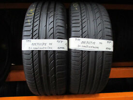T99 2X 225/45/18 95Y XL CONTINENTAL SPORT CONTACT 5 1X6MM 1X6,5MM TREAD