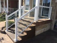 We supply and install  Aluminum welded railings for deck and bal