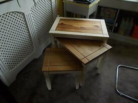 Upcycled coffee tables.