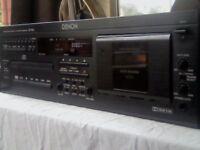 DENON DN-T620 PROFESSIONAL CD & CASSETTE DECK COMBI / COMBO DECK. V RARE AND LITTLE USED. UK RARITY.