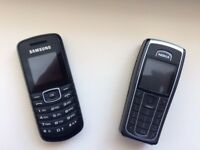 2 Mobile phones Samsung and Nokia
