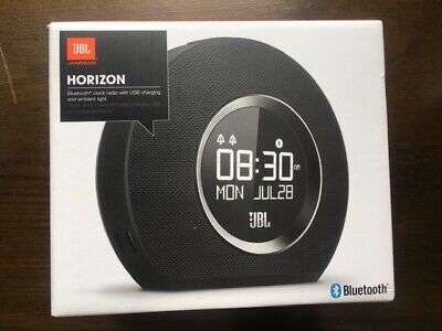 NEW - JBL Horizon Bluetooth Clock Radio, USB Charging and Ambient Light
