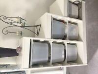 Ikea White Cube Storage Units