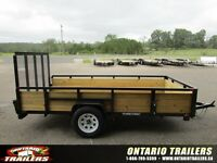 Ontario Trailers 6 x 12 ft 3 board high side single axle