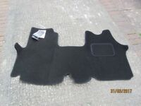 Van fitted front carpet, for Vivaro,Trafic, black with bound edges