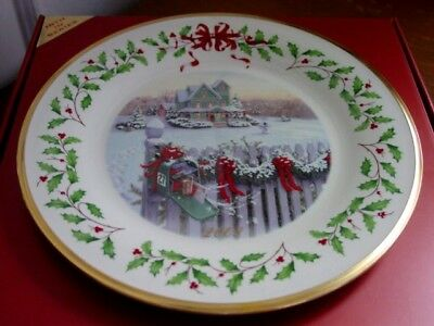 Lenox 2008 Annual Holiday Collector Plate Home For Christmas Ltd Ed   New   Box